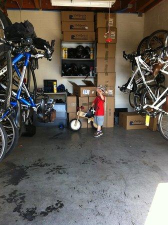 Bardessono: bike storage