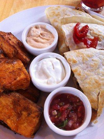 Trackside Cantina: veggie quesadillas