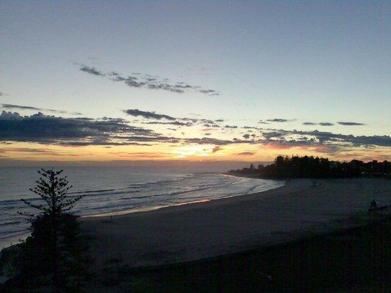 sunset over Coolangatta Beach