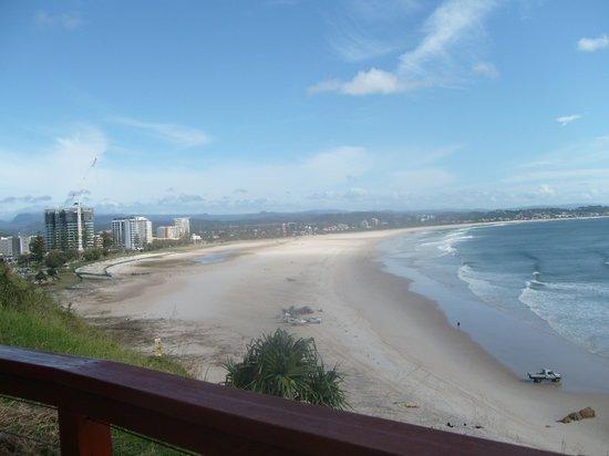 Coolangatta beach shoreline