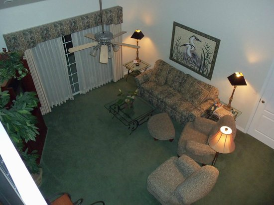 French Quarter Resort: view from loft in 3 bedroom
