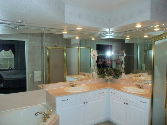 French Quarter Resort: master bath...very large & open to bedroom