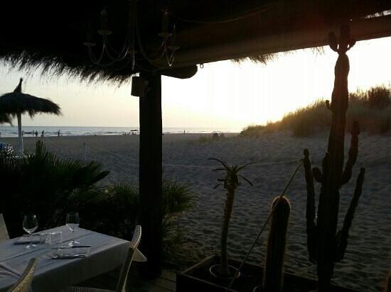 Fiumara Beach: Vista sul tramonto