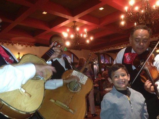 Casa de Bandini: Mariachi singing to my boy.