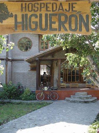Hospedaje Higueron : la entrada