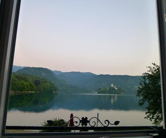 Carman Guest House: view from the room at sunrise