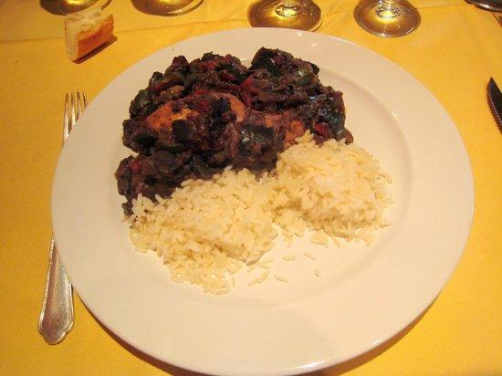 Auberge de l'Orisse: cuisse de lapin et sa ratatouille à revoir