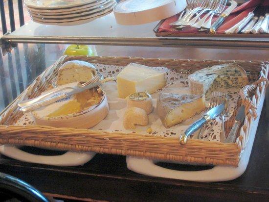 Auberge de l'Orisse: plateau de fromages