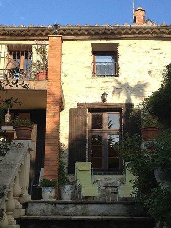 Mas Pallares: Treppe vom Garten auf die Grand Terrasse