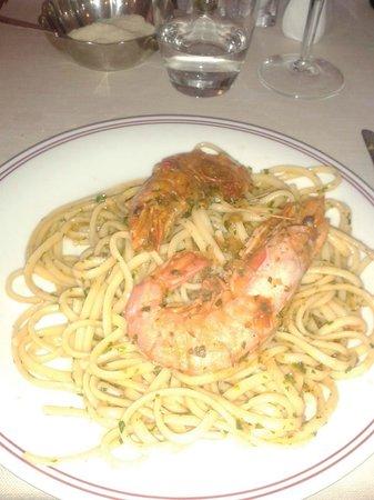 Hotel Vecchia Rimini: Linguine con le Mazzancolle