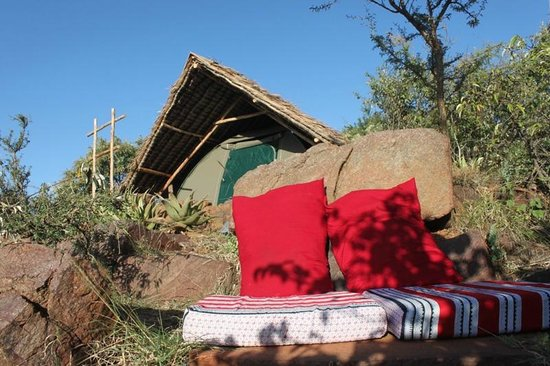 Maji Moto Eco Camp: Tent and Relaxing spot