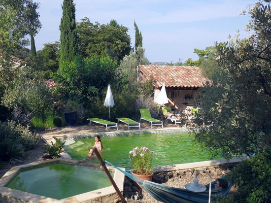 Le Mas de la Filoselle : Coin piscine
