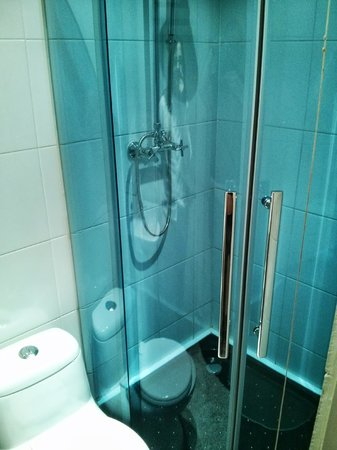 Newham Hotel: The shower room
