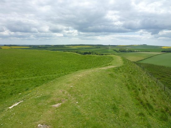 Maiden Castle: Looking South