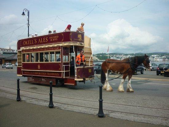 Ellan Vannin Hotel: Horse Tram, Douglas Promenade