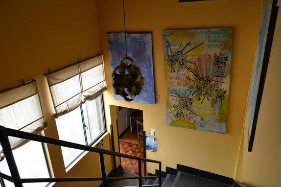 Hostel Kokopelli : Stairs to the Bar