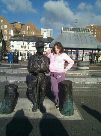 Poole Harbour: my daughter with lord batenpowell