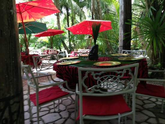Maruba Resort Jungle Spa: Outside Restaurant Area