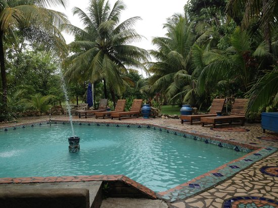 Maruba Resort Jungle Spa : View of the pool from our room