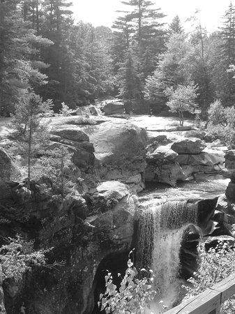 Grafton Notch State Park: Pool below biggest plunge Screw Auger Falls