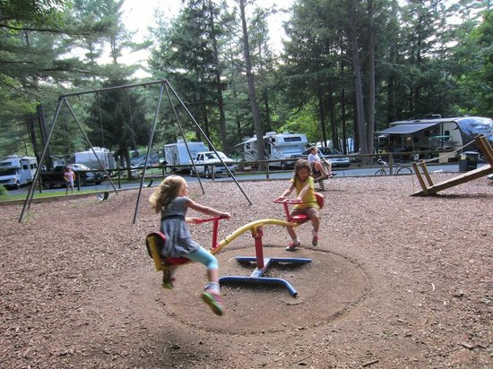 Quechee / Pine Valley KOA: part of the playground