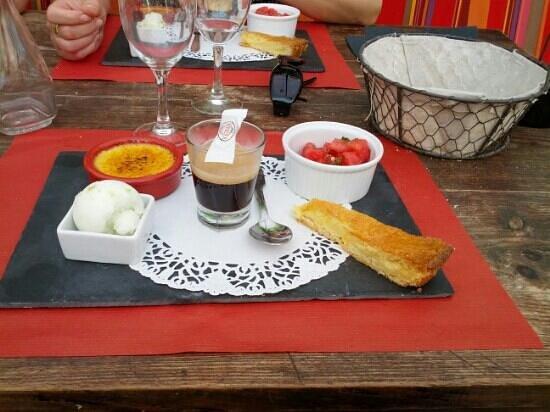 Restaurant Etche Ona : cafe gourmand