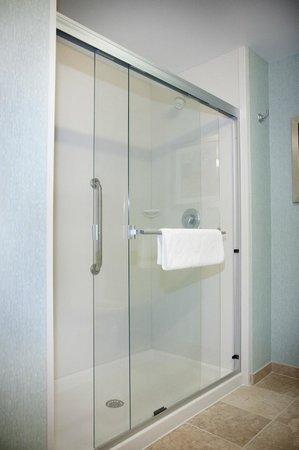 Hampton Inn Suites Wheeling - The Highlands: Shower with Sliding Glass Door