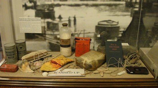 Old Coast Guard Station: One of the many display cases