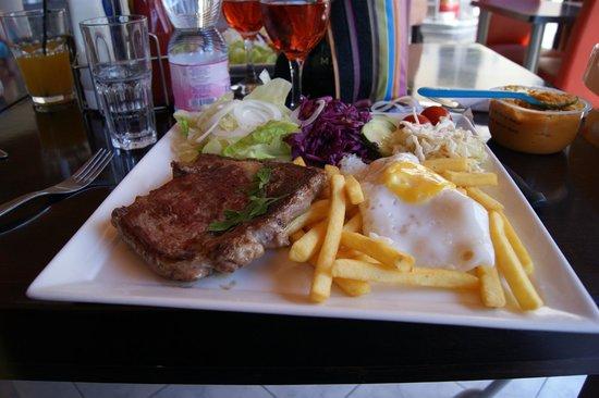 "Knickerbocker Restaurant : Steak ""simple"""
