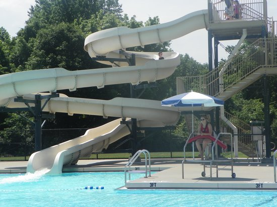 One of the waterslides at pool picture of clifty falls - Clifty falls state park swimming pool ...