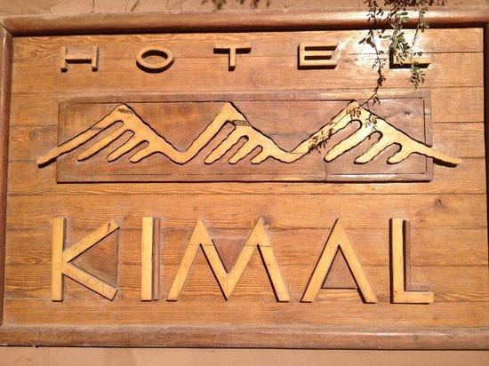 Hotel Kimal: Placa externa