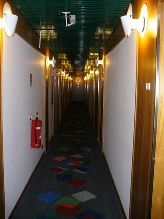 Carlyle Brera Hotel: Corredor para os quartos - 1º andar