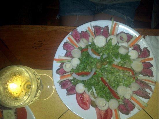 Hotel Las Tortugas -Dining: Ensalada de sashimi