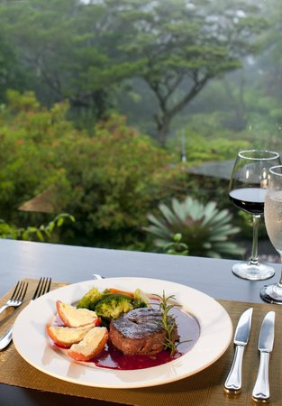 El Jardin at Monteverde Lodge & Gardens: A meal with a cloud forest view
