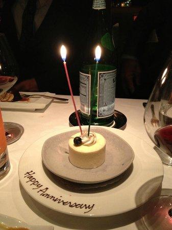 Restaurant Gary Danko : Anniversary surprise
