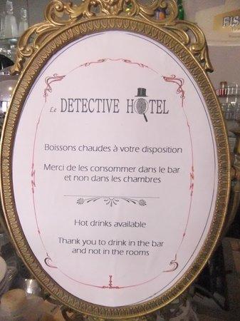 Detective Hotel : Boissons chaudes à volonté