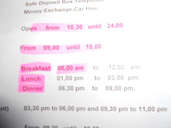 HSM Canarios Park: time schedual