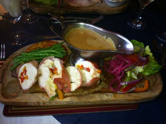 The Boars Head: My Chicken Roulade had so many elements that blended superbly