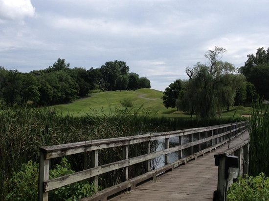 Doral Arrowwood: Golfer must hit over this lake on 7