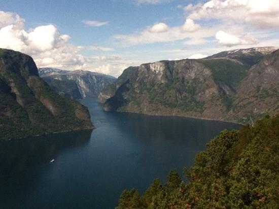 Laerdalstunnelen : Aurlandsfjord!