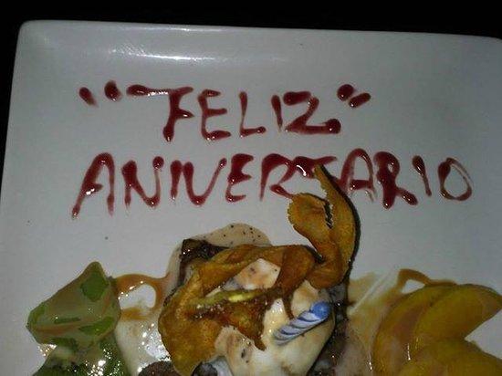 Kinta Mexican Bistro : Anniversary dessert