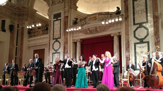 Vienna Hofburg Orchestra: Orchestra with opera singer guest stars; notably Sera Goesch in teal dress!