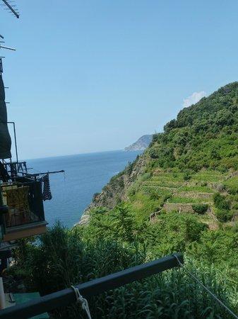 B&B Casa vacanze il Gatto: View from balcony towards the sea