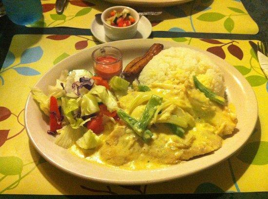 Cenaida's : Half of an order of the Coconut Fish Special