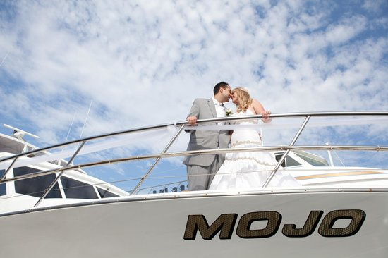 Horner Cruises Events Bride Groom Aboard Mojo Yacht