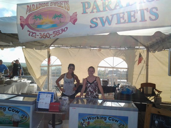 Paradise Sweets: Our annual street festival in Pass-a-Grille outside our shop.