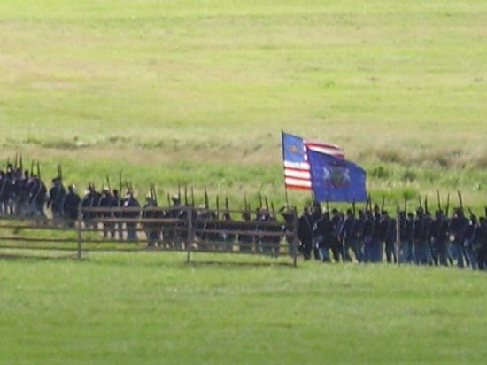 Annual Gettysburg Reenactment: The field begins to fill