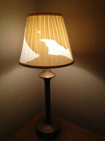 Knights Inn Wheeling: when do you think this lamp was update?...never?!