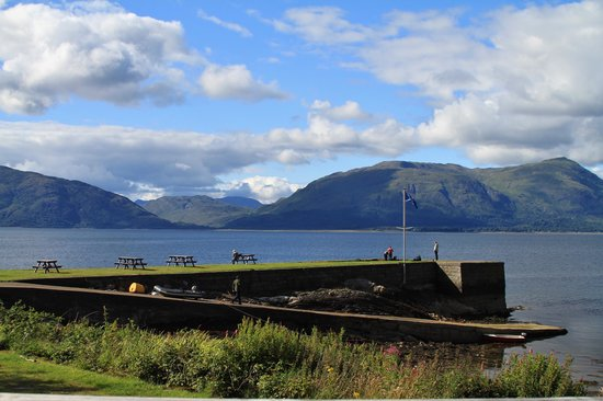 Loch Linnhe Waterfront Lodges: View from the Bar balcony