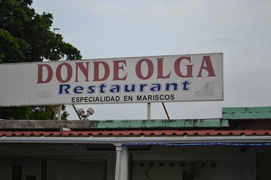 donde olga: Pinones- In front of a Water Building.